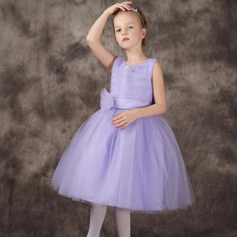 2017 New Model Girl Dress Kids Purple Sleeveless Princess For Party Vestido Children Clothing Summer 1-14 Years SKD001418 вечернее платье mermaid dress vestido noiva 2015 w006 elie saab evening dress