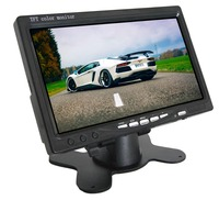 7 inch Car Monitor TFT LCD Screen DC 8 36V Stand Alone Monitor with 2 Video Inputs Black Color SH708