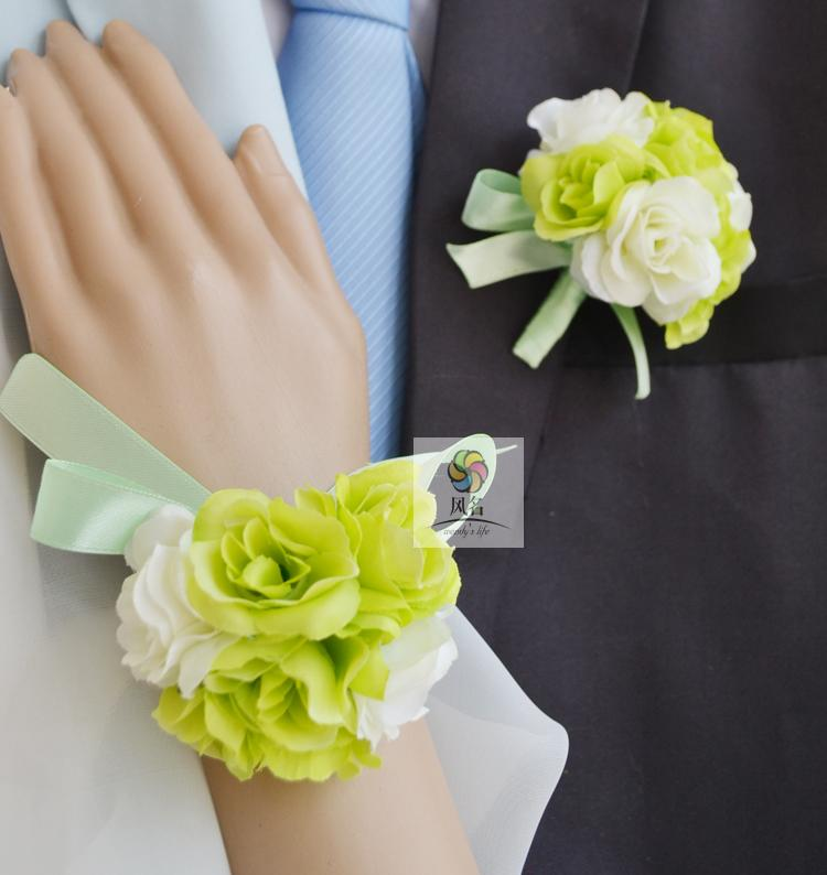 Medical & Mobility Handmade Corsages Blue Rose Bridal Wedding Supplies Groom Boutonniere Bride Bridesmaid Hand Wrist Flower Artificial Flower Fs101 Clothing, Shoes & Accessories