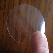 Rreth 2.5cm Rrethi Transparente Ngjitëse shumëfunksionuese ngjitëse të papërshkueshëm nga uji Rrumbullakim i etiketave PVC të qarta të vulosjes Sticker Transporti falas