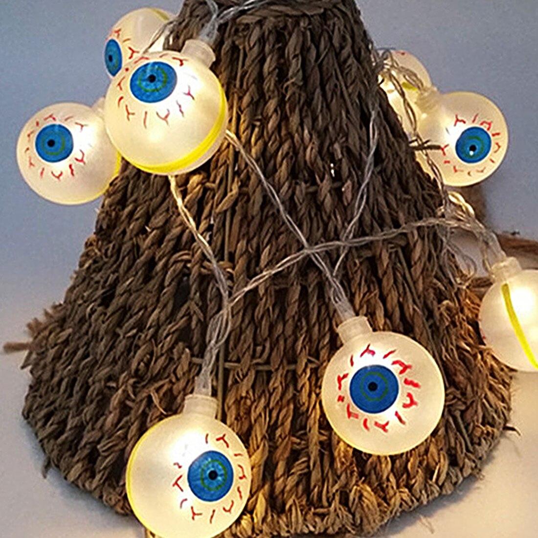 Hot!Best 10LED 1.2M Eyeballs Halloween Decor LED String Lights Lanterns Lamp for DIY Home Bar Outdoor Party Supplies