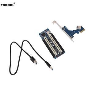 Image 3 - VODOOL PCI E אקספרס X1 כדי הכפול PCI Riser להאריך מתאם כרטיס עם 1M USB3.0 כבל עבור WIN2000/XP/Vista/Win7/Win8/לינוקס להוסיף כרטיס