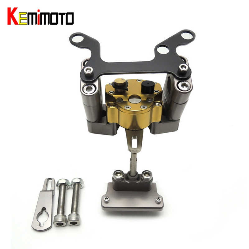 KEMiMOTO For YAMAHA MT07 MT 07 MT-07 FZ-07 2014 2017 Motorcycle Accessories Steering Damper with Mounting Bracket Kit 2014-2017 125cc cbt125 carburetor motorcycle pd26jb cb125t cb250 twin cylinder accessories free shipping