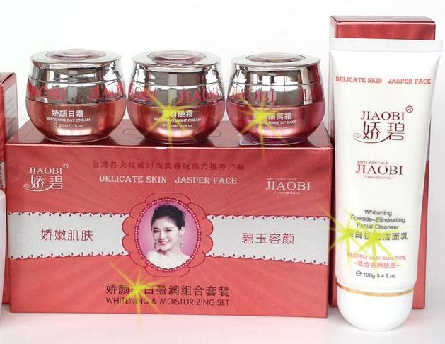 JiaoBi Hongkong JiaoYan Bailitouhong  Face Whitening Freckle Speckle Free Remove Cream SetJiaoBi Hongkong JiaoYan Bailitouhong  Face Whitening Freckle Speckle Free Remove Cream Set
