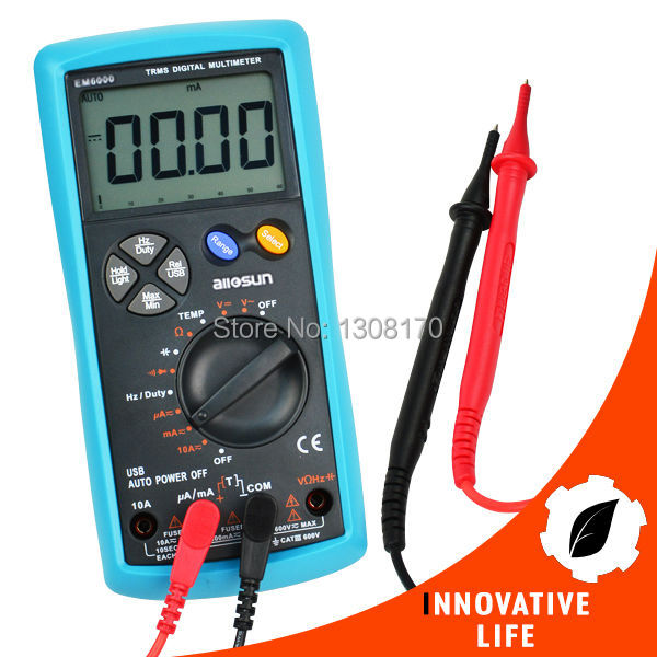 True-RMS Multimeter AC&DC Current Voltage Resistance Capacitance Diode Temperature Duty Cycle USB Interface Meter Digital Tester  usb interface multimeter tester test true rms ac dc current voltage resistance capacitance diode temperature duty cycle meter
