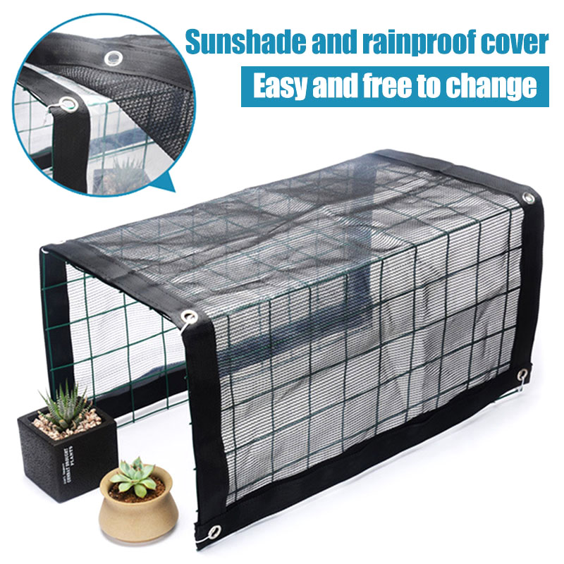 Multifunctional Mini Greenhouse Portable Outdoor Plant Shelves Canopy Rain-Proof Summer Awning J2Y