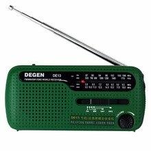 Мини-fm-радио mw degen динамо sw мир энергии приемник солнечной fm радио