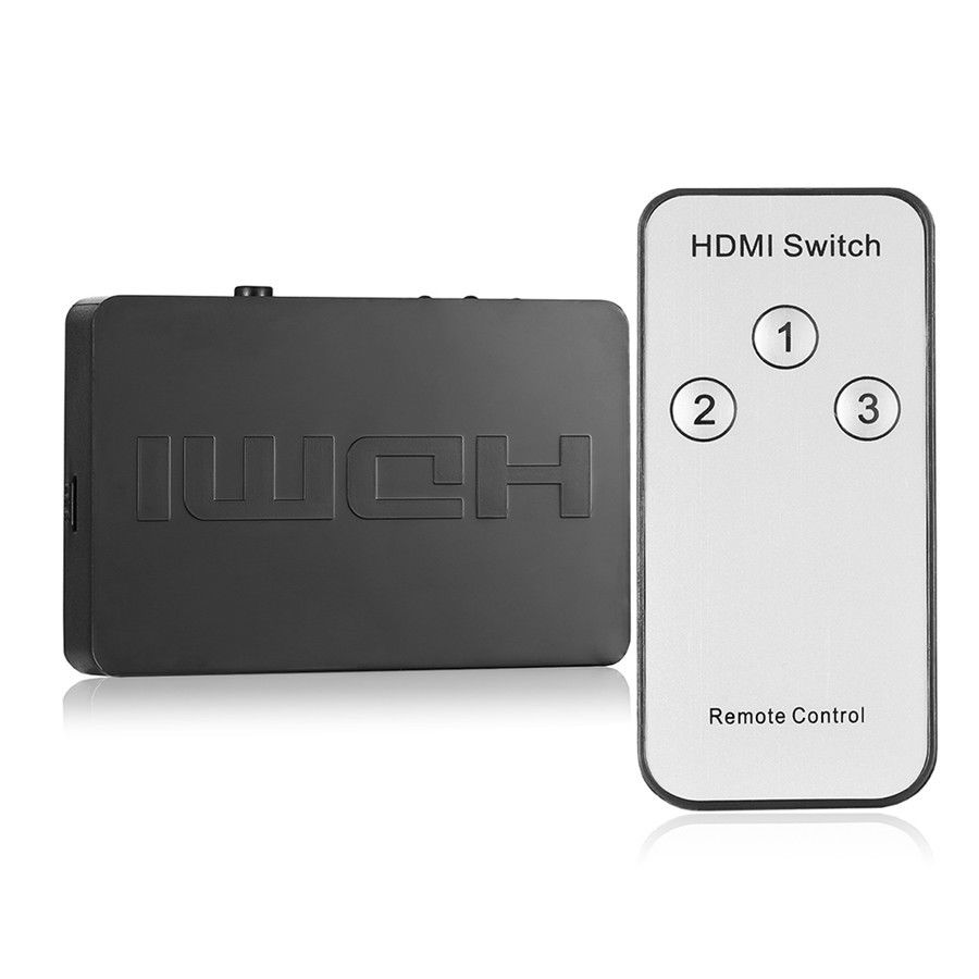 цена на HDMI Switch Switcher HDMI Splitter 3 In 1 Out HDMI Port 1080P 3D Video Adapter for DVD HDTV Xbox PS3 PS4 With Remote Control