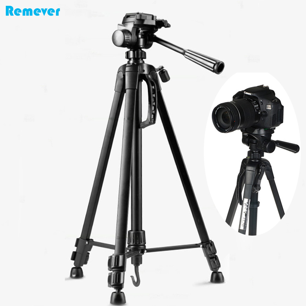 New professional Tripod with 360 degrees horizontal swivel and 90 degrees vertical platform with 3-way head for Cameras DSLR professional 360┬░ swivel bracket head with bubble spirit level for camera tripod