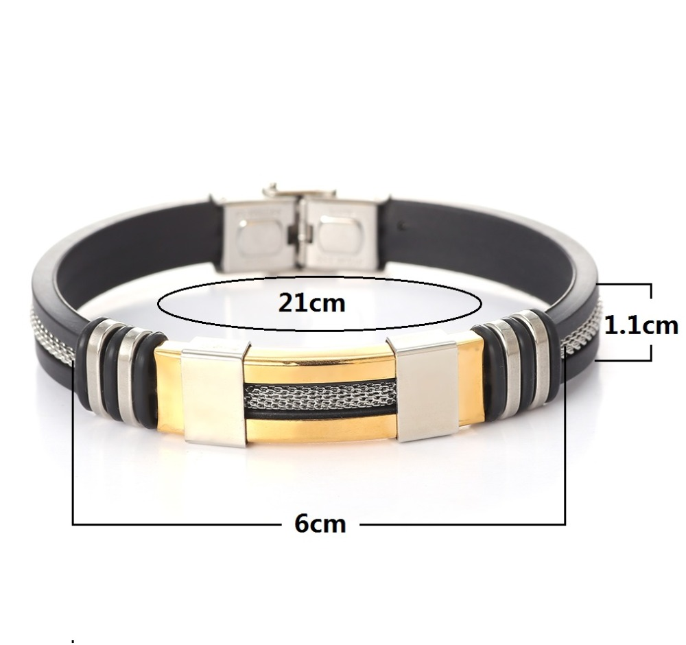 Leather Metal Cuff Stainless Steel Bracelets for Men