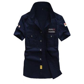 Shirt Men Clothes 2018 Summer Fashion Men Shirt Streetwear Mens Shirts Casual Slim Fit Men Shirt Short Sleeve 4XL 5XL ZT175