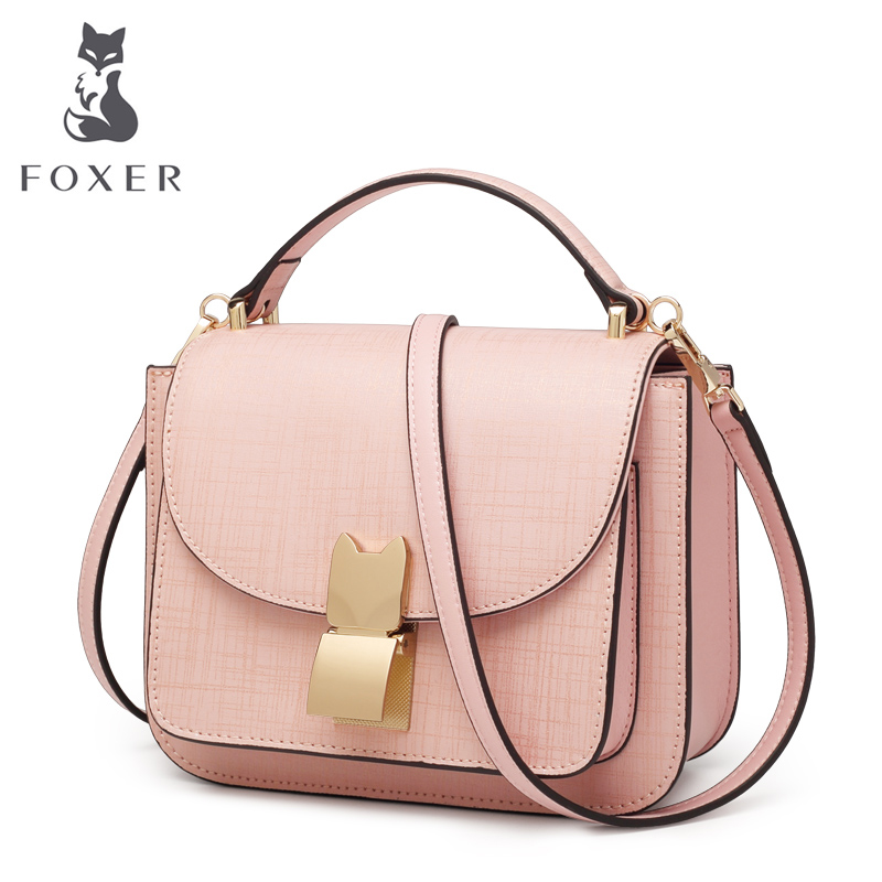 FOXER Brand Women's Leather Handbag Luxury New Fashion Shoulder Bag Ladies Handbags Female 2018 High Quality Mini Crossbody Bags foxer brand women s leather handbag fashion female totes shoulder bag high quality handbags