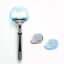 1 шт., 2 цвета, прозрачный пластик, супер присоска, бритва для ванной комнаты, держатель для бритвы на присоске, подставка для хранения бритвы, держатель для бритвы