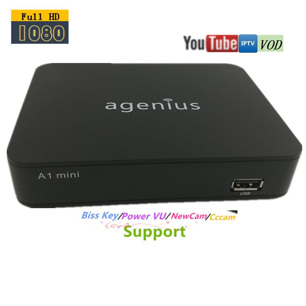 Agenius Nouveau Modèle récepteur Satellite Iks Support HD 1080 p Youtube Avec Newcam Powervu RJ45 Wi-fi Usb DVB-S2