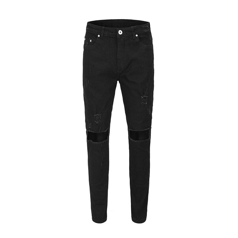 2019 s Hiphop nouveau japon style rétro noir classique couteau coupe jeans Justin Bieber brouillard Style mode survêtement hommes jeans noir