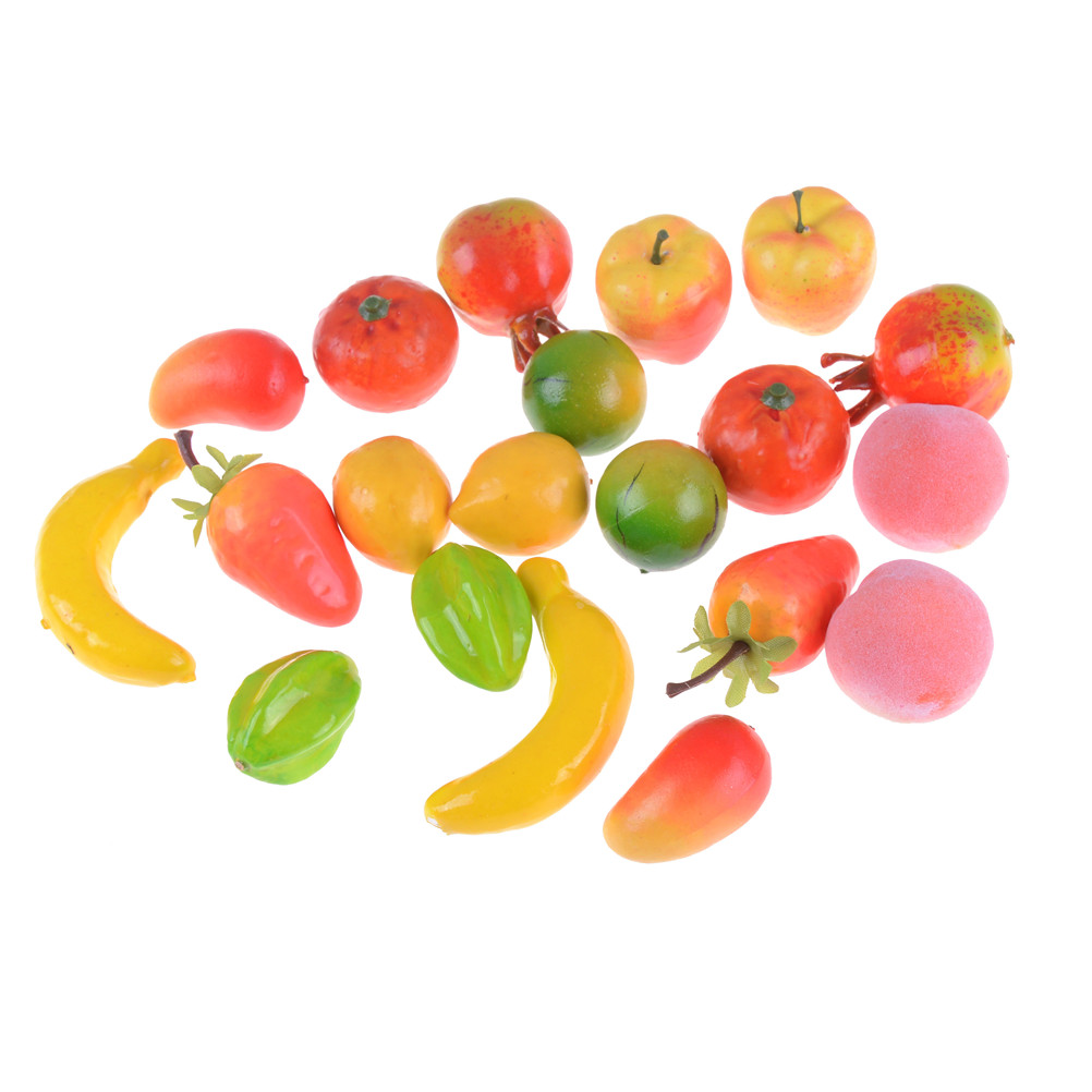 10Pcs Mini Fruits Vegetable Food Doll Room Decor Kits Kitchen Toys Pretend Play Toys Doll House Miniatures Accessories