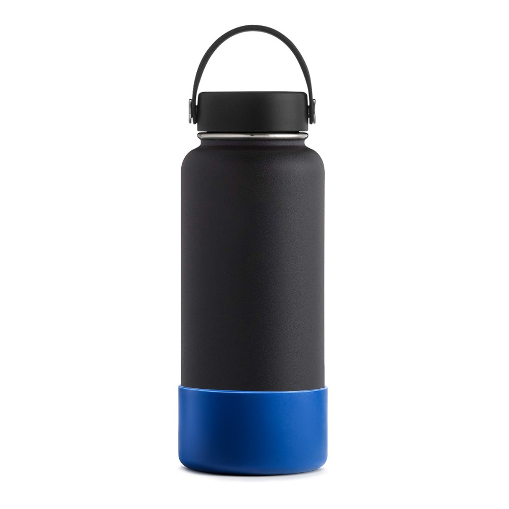 17 Oz Portable Travel Dog Water Bottle: Silicone Sleeve 32oz/40oz Bottom Cover Protective For