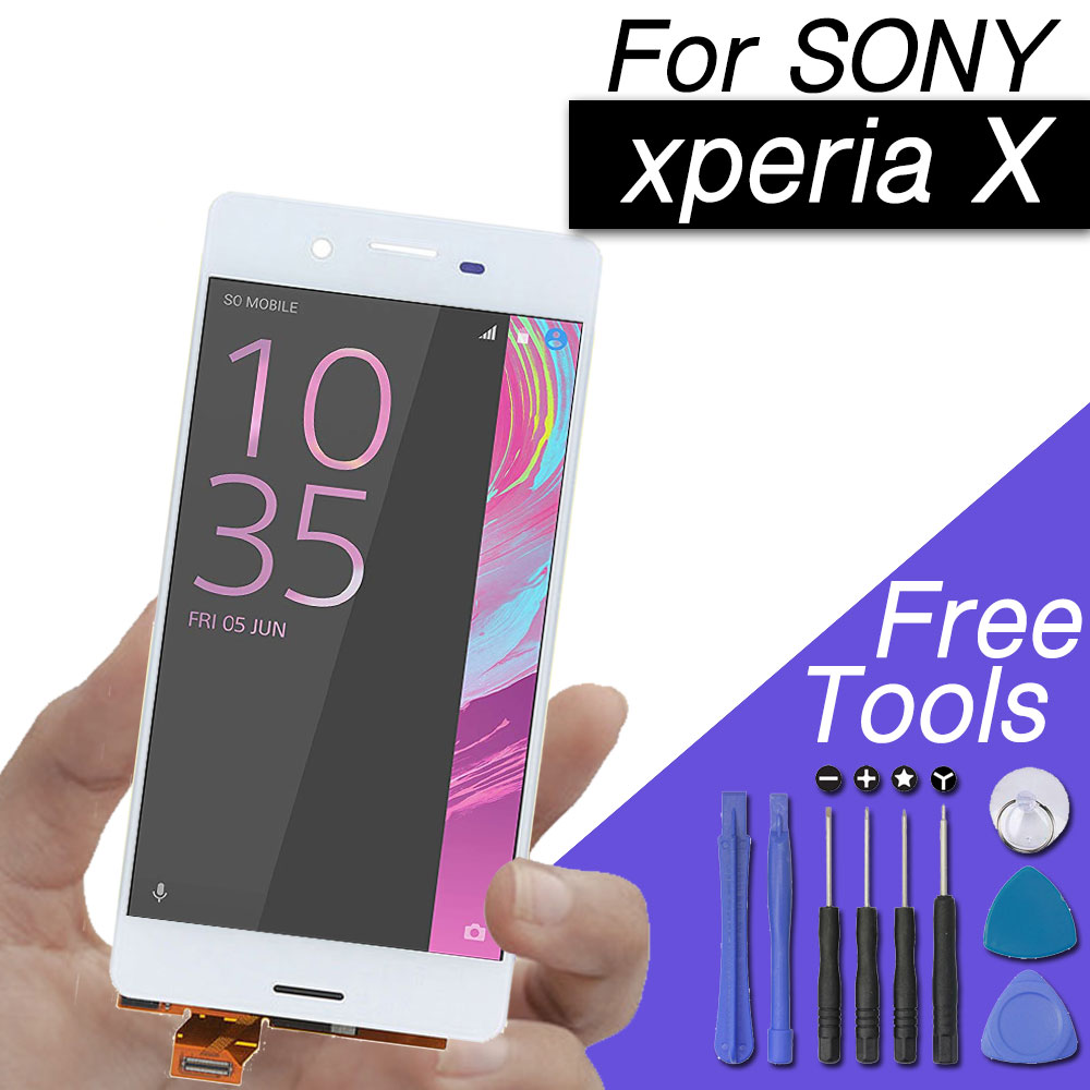 Ecran LCD pour Sony xperia x ecran tactile pour Sony xperia x lcd numériseur 5121 F5122 avec kit d'outils gratuit
