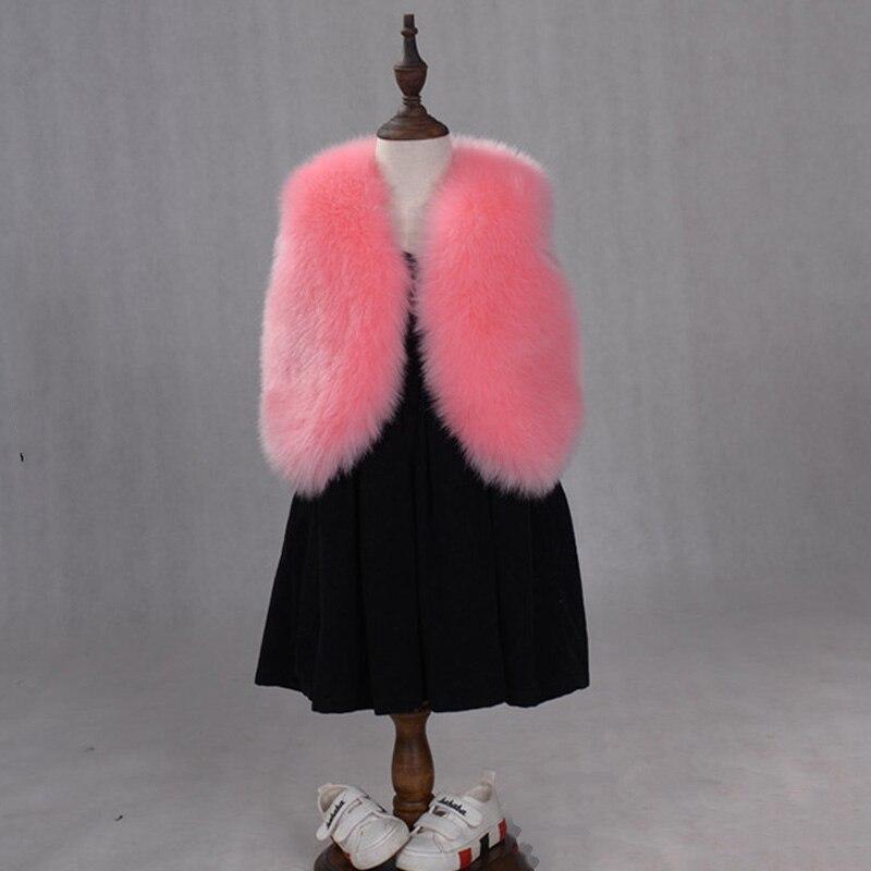 JKP 2018 children's imitation fur vest jacket autumn and winter new wild warm vest girl fur coat children thick warm waistcoat