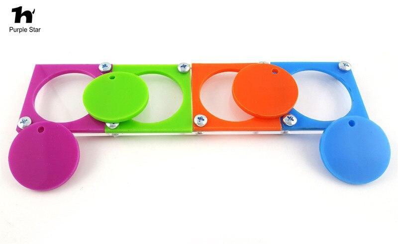 """Фіолетова зірка 7.87 """"* 1.96"""" Акрилова пташка іграшка Птах папуга когнітивна головоломка Навчання інтелектуальних розвиток іграшки колір окремі птах іграшки"""