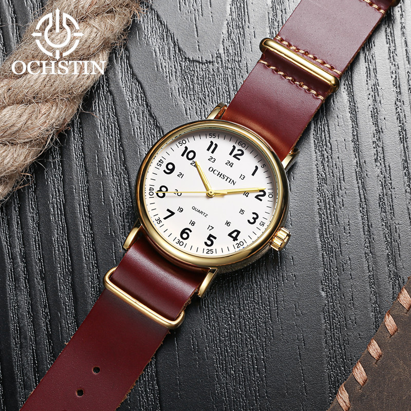 2017 Nieuwe Lederen OCHSTIN Horloges Mannen Top Luxe Merk Hot Ontwerp - Herenhorloges - Foto 6