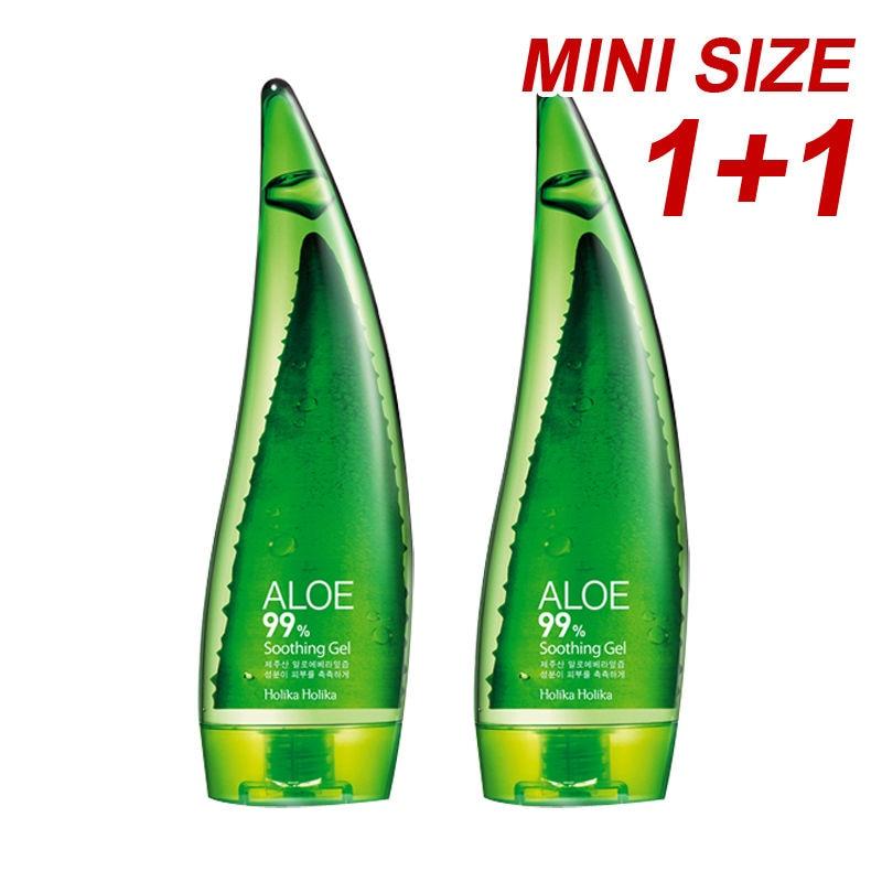 HOLIKA HOLIKA Aloe 99% Gel Apaisant 55 ml 2 pcs Aloe Vera Gel Crème Supprimer Acné Blanchiment Contrôle De L'huile Hydratante Visage Peau soins