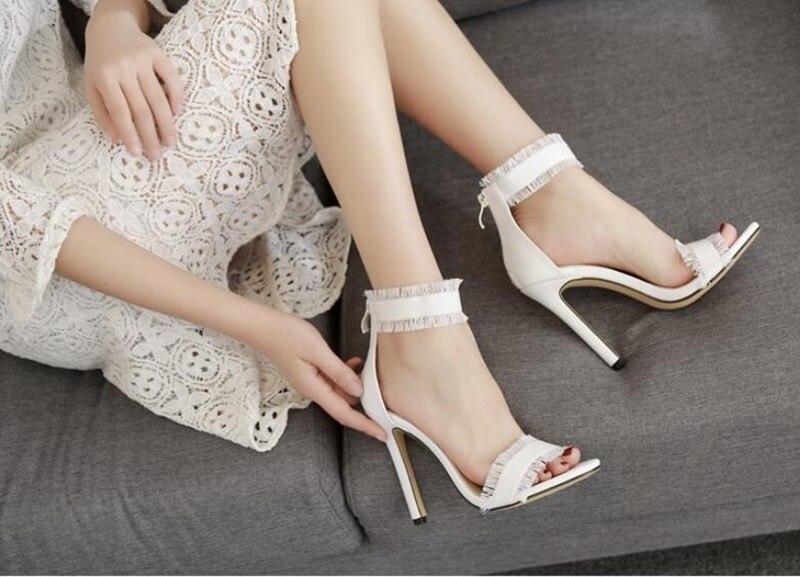 Américain Style Chaussures Européenne 2018 Tissu Jean À De Color Hauts Lady As Mode Color Mince Femmes Franges Denim Coréenne Showed as Sandales Talons Zw5p5qT6d