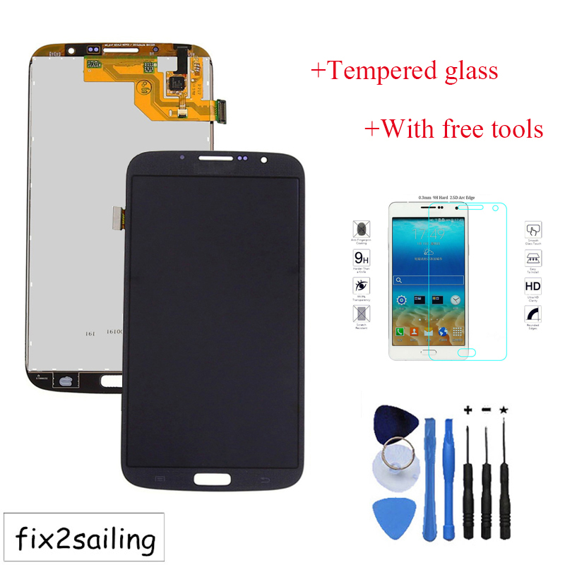 100% Working LCD Display+Touch Screen part Digitizer  For Samsung Galaxy Mega 6.3 i9200 i9205 Black+With free tools рюкзак ai inverse still ans678 2015