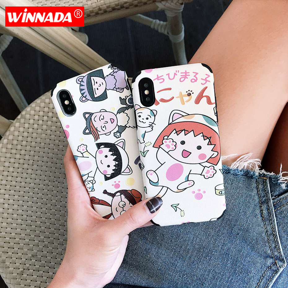 Case for iphone 8 case For iPhone X XS 7 8 6 6s plus XR Maruko Back Cover for iphone 7 case for iPhone XS MAX para