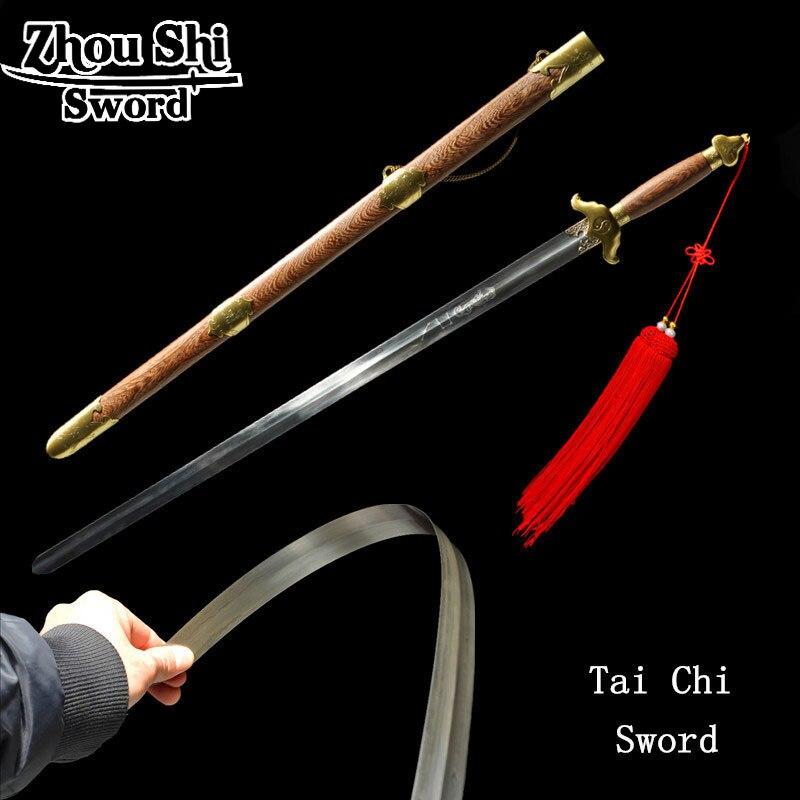 Art martiaux formation chinois Kung Tai Chi épée en acier inoxydable lame épée 90 degrés plie exercice épée à collectionner