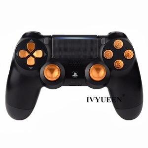 Image 5 - IVYUEEN для Sony PlayStation Dualshock 4 PS4 Pro, тонкий контроллер, алюминиевый аналоговый джойстик, кнопка, Dpad, аксессуары для игр
