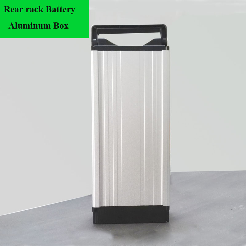 Rear rack Aluminum mountain Bike lithium Battery Al box electric bicycle battery storage shell-in Battery Storage Boxes from Consumer Electronics    1