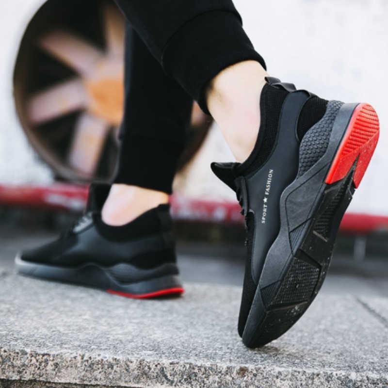 Vertvie 2019 Torridity Preto Vulcanize Sapatos Formadores Sneakers Malha Respirável Esportes Casuais Masculinos Dos Homens Lace-up Sapatos Rasos Mais