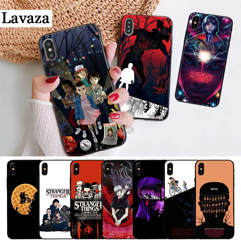 Lavaza should stay Stranger Things Silicone Case for iPhone 5 5S 6 6S Plus 7 8 11 Pro X XS Max XR