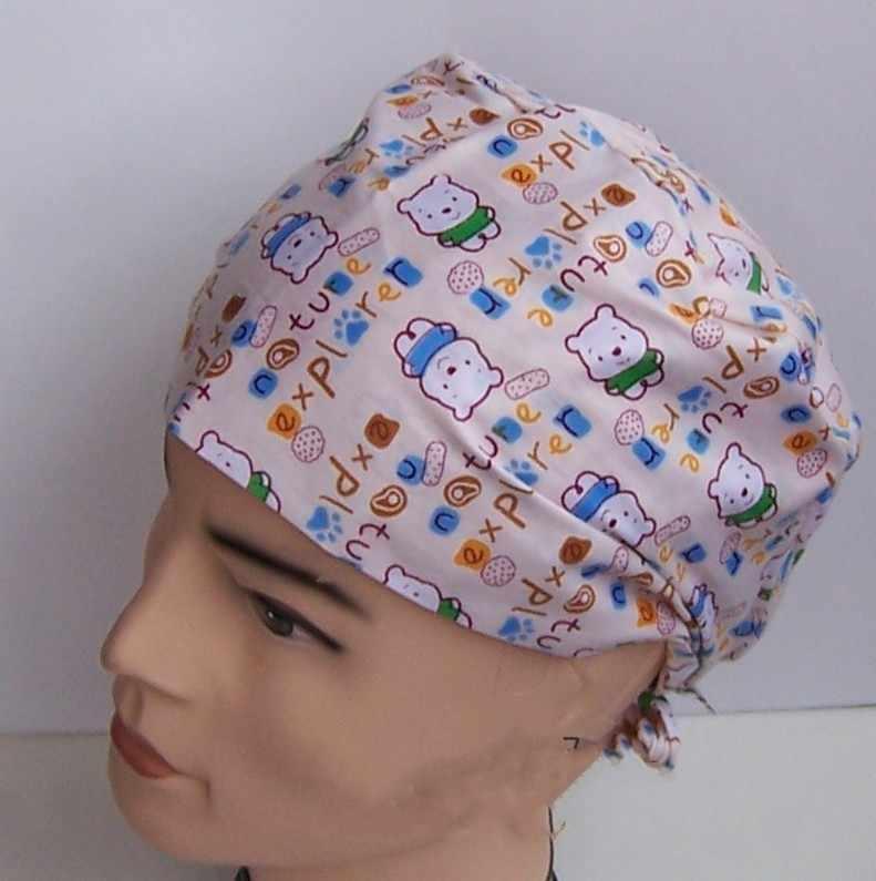 Lekarz oddychające peelingi słodkie zwierzaki kobiety mężczyźni dentysta kosmetyczny szpital medyczne czapki chirurgiczne kapelusz pielęgniarka Unisex apteka Wrap