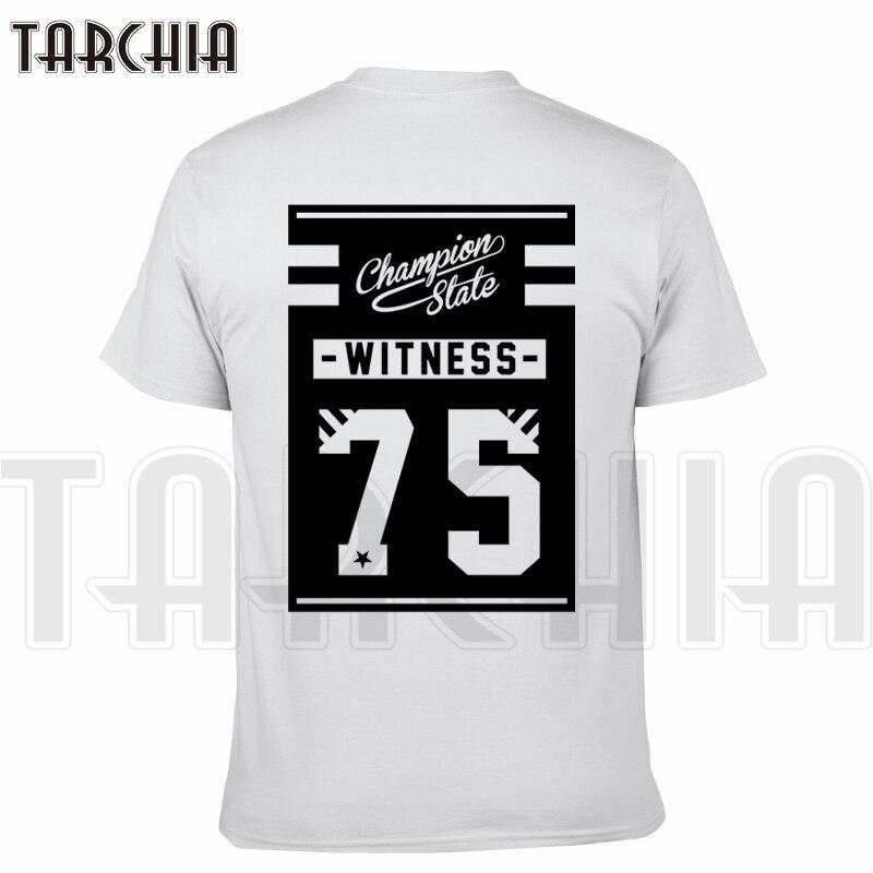 TARCHIA 2018 New Brand t-shirt cool funny 77 wintss cotton tops tees men short sleeve boy casual homme tshirt t plus fashion