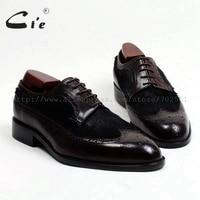 cie Round Toe Bespoke Custom Handmade Horse Hair Match Pure Genuine Calf Leather Outsole Men's Lacing Derby Casual Shoe FlatD145