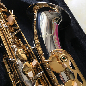 Image 3 - 100% sevenangelブランドテナーサックスbbトーン木管楽器シルバー & ゴールド表面提供oemサックス