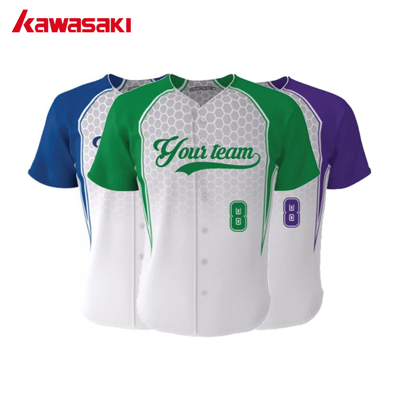 a1222512d 2017 Kawasaki Professional Custom Male / Female Fans Basebell jerseys Top  Practice Breathable Training Softball Shirt Jersey
