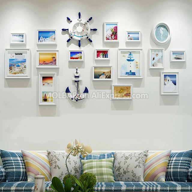 Aliexpress.com : Buy Large Mediterranean Style Photo Wall Wood Frame ...