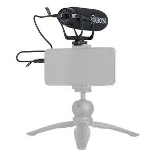 Image 5 - BOYA BY BM2021 카디오이드 DSLR 용 카메라 마이크 3.5MM TRS TRRS 케이블 어댑터가있는 Nikon Canon 캠코더 전화 마이크