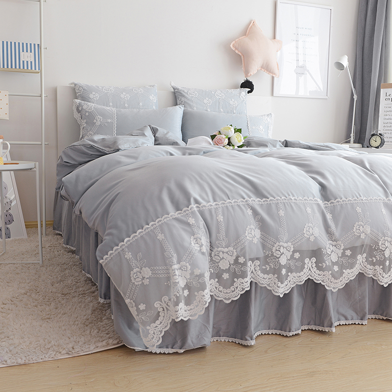 pink grey blue purple beige single double bedding set adult twin full queen king home textile. Black Bedroom Furniture Sets. Home Design Ideas
