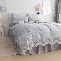 Rosa azul roxo cinza bege único jogo de cama de casal para adultos, gêmeo completa da rainha do rei têxtil de casa saia da cama colcha fronha caso