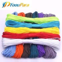 100 цвета Паракорд 2 мм 100 футов, 50FT один стенд ядер Паракорд веревка паракордовый шнур для изготовления ювелирных изделий оптовая продажа