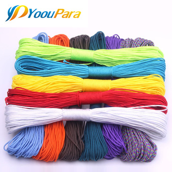 100 Colors Paracord 2mm 100 FT,50FT One Stand Cores Paracord Rope Paracorde Cord For Jewelry Making Wholesale