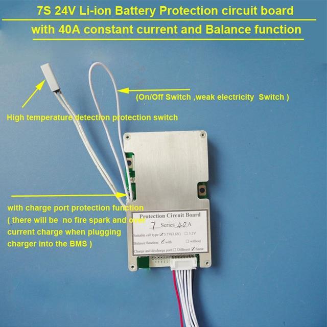 24v 7s electric bike 18650 or li ion pcb board and bms with 40a rh aliexpress com Yamaha Wiring Diagram BMW Wiring Diagrams