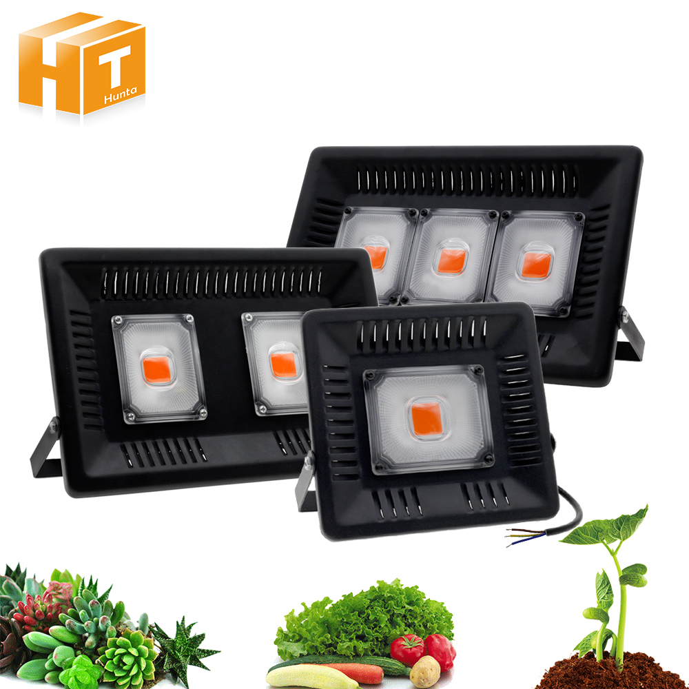 LED Grow Light AC220V 50W 100W 150W COB Full Spectrum IP67 Waterproof Outdoor Plant