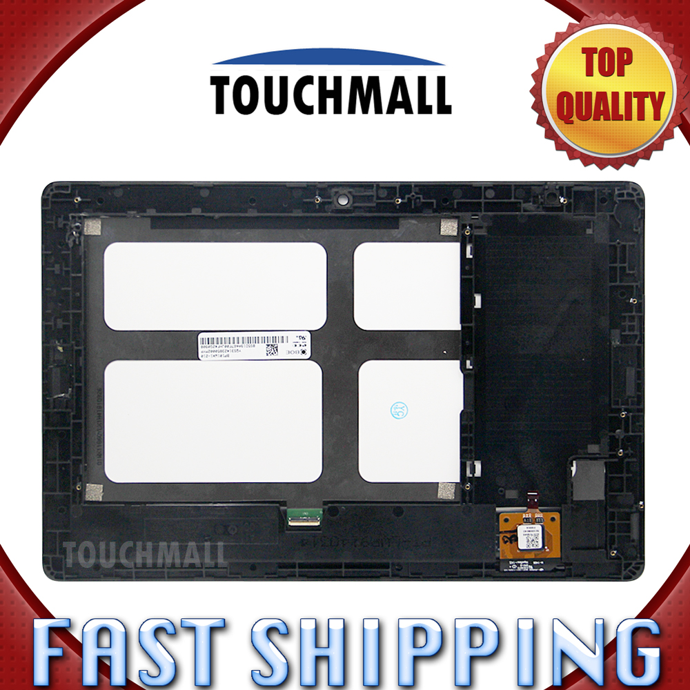 For New LCD Display Touch Screen with Frame Assembly Replacement Lenovo Tab A10-70 A7600 A7600-F A7600-H Black Free Shipping рубашка united colors of benetton цвет белый