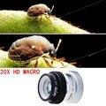 Evileye macro fotografía lentes 20x súper lente macro para iphone 5 6 plus 6 s plus lente de la cámara para samsung s5 s4 note 3 4 ape-20xm