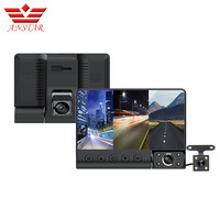 ANSTAR 4''Car DVR 1080P 3 Lens 3 Way Video Recorder Inside The Car Before And After Double Recording HD Night Vision Reversing